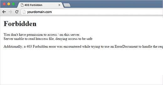 خطای 403 در وردپرس (Access Denied Error) یا 403 Forbidden ونحوه رفع آن